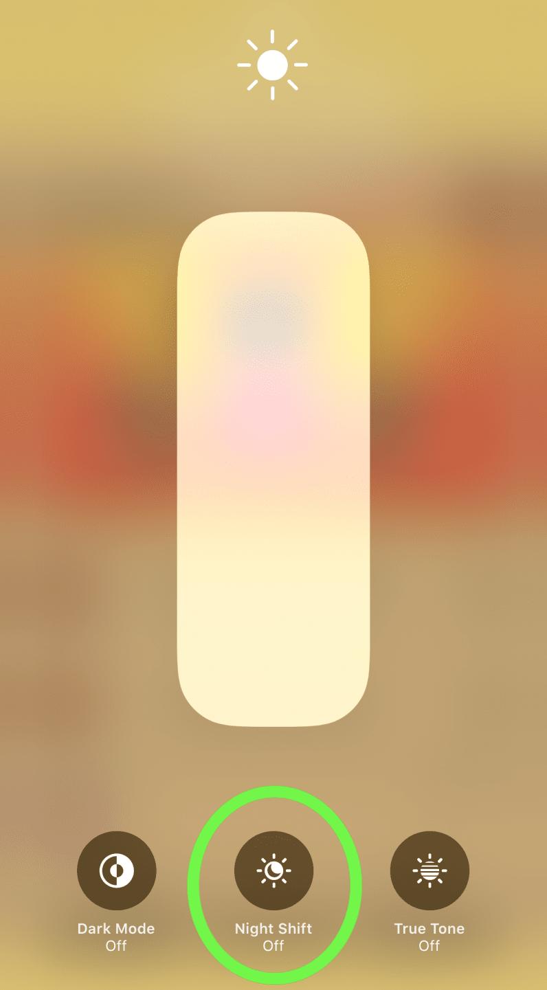 allumer rapidement le bouton de nuit