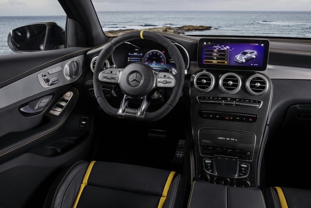 Intérieur de la Mercedes-AMG GLC Coupé 63 S 4Matic +