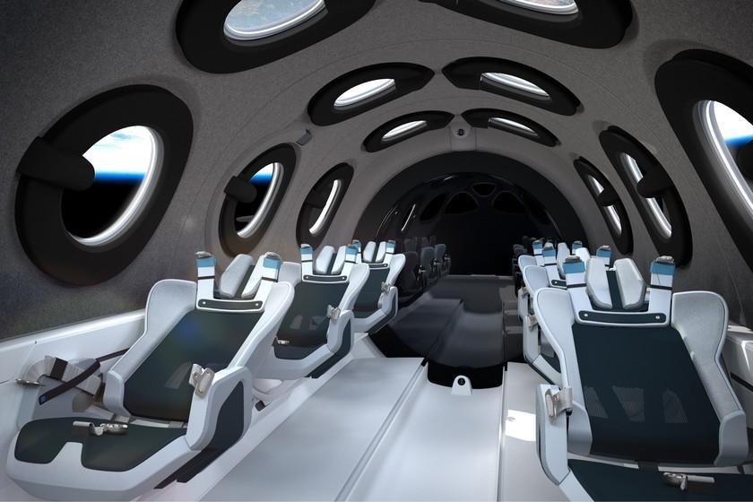 Virgin Galactic dévoile la cabine futuriste de SpaceShipTwo, son navire de tourisme spatial