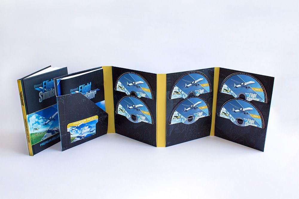 Les 10 disques inclus dans Microsoft Flight Simulator Premium Deluxe Retail Edition