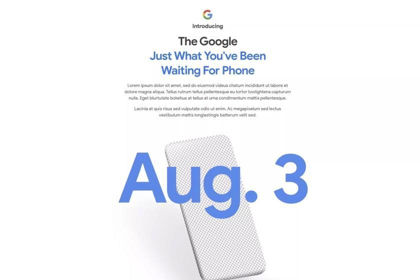Le site officiel de Google annonce un nouveau Pixel pour le 3 août