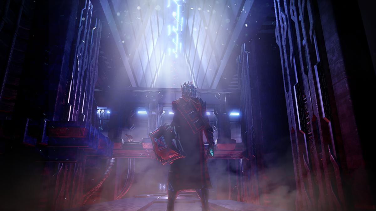 Personnage Hellpoint avec une épée et un bouclier