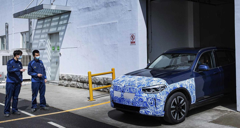 L'une des images de la nouvelle BMW iX3 qui circulait déjà sur Internet