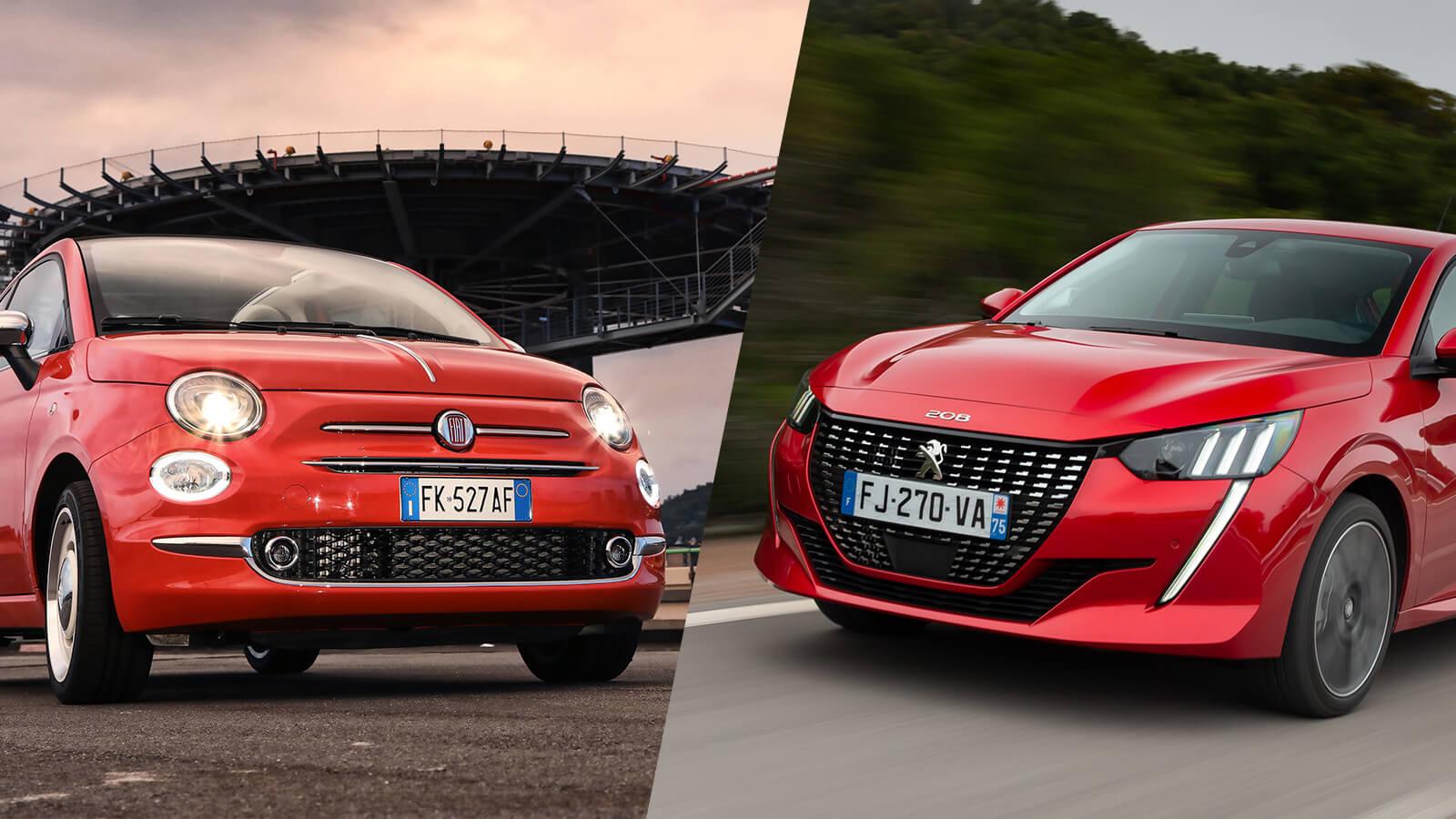 Fiat 500C et Peugeot 208