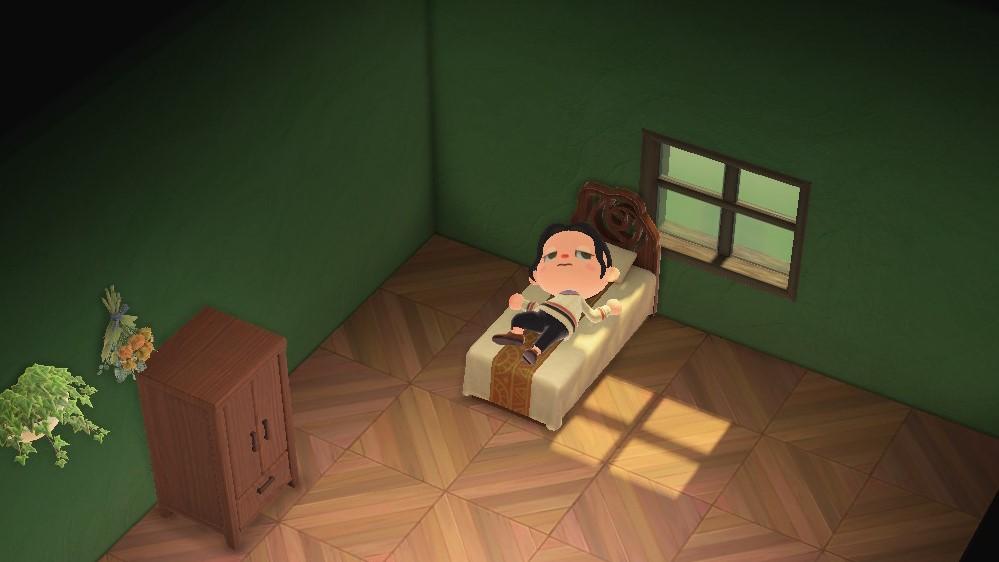 Animal Crossing: New Horizons se réveillant de son sommeil