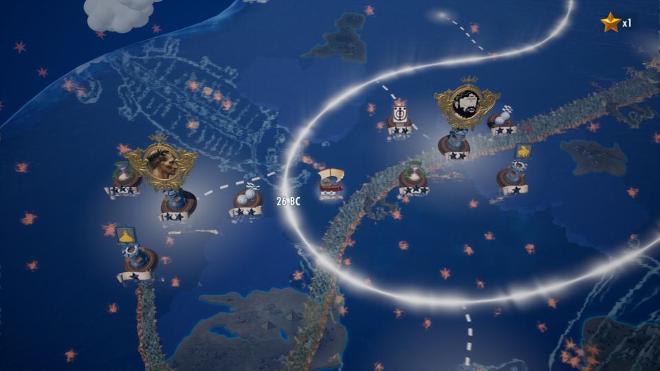 La carte du monde dans Rock of Ages 3