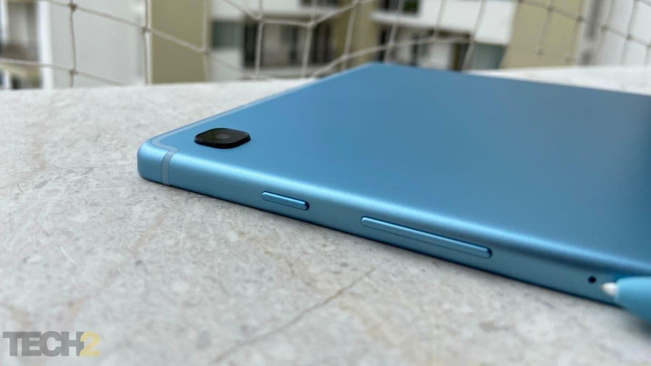 Samsung Galaxy Tab S6 Lite a un appareil photo 8 MP à l'arrière et un appareil photo 5 MP pour selfie. Image: tech2 / Nandini Yadav