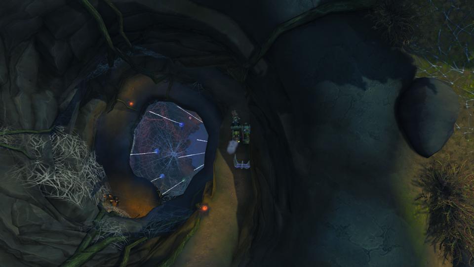 Descendre dans une vilaine ville-araignée à Shadowlands.