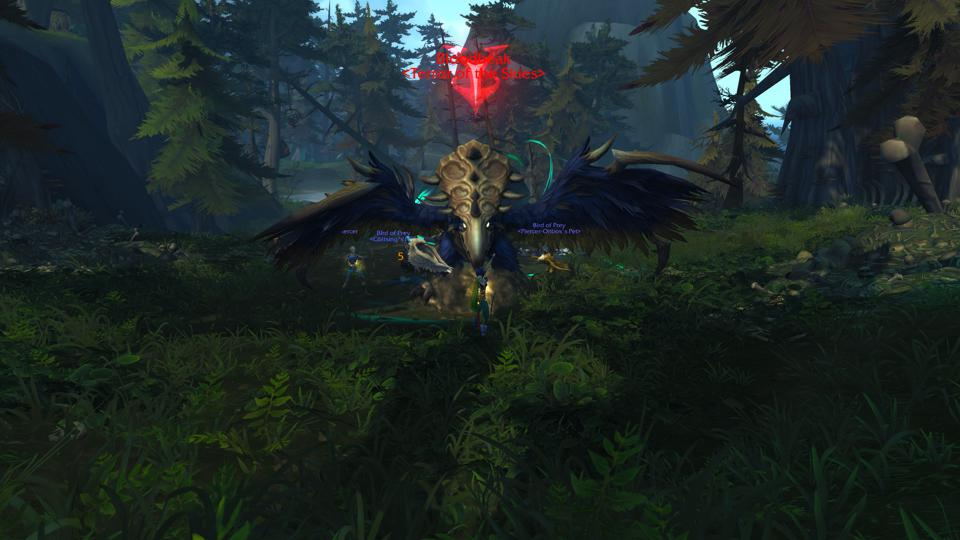 Capture d'écran de l'herbe et du combat