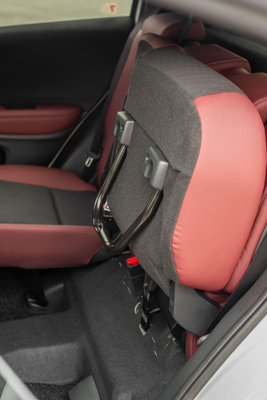 Siège arrière avec siège rabattu