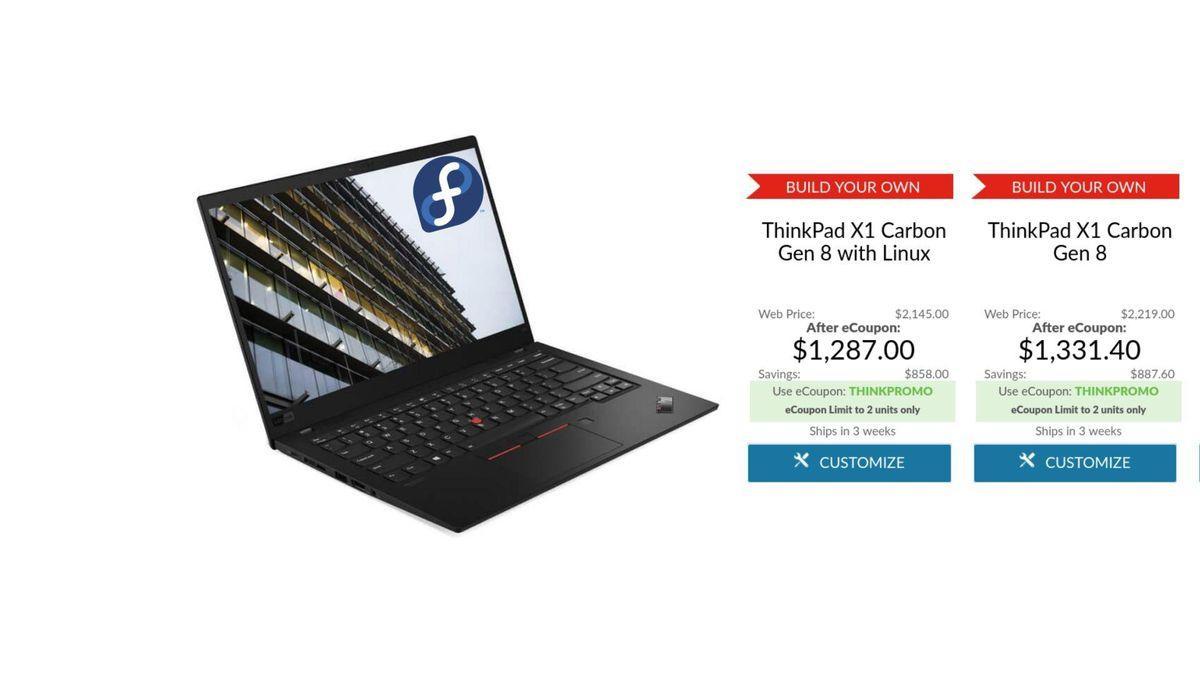 Lenovo Lance Le X1 Carbon Alimenté Par Fedora Avec Linux