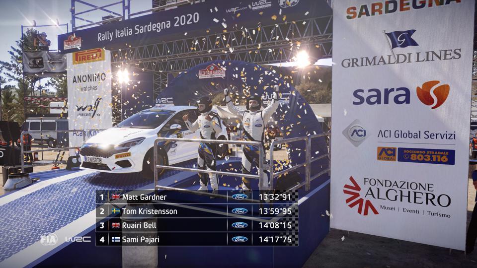 gagner le rallye de Sardaigne en WRC 9