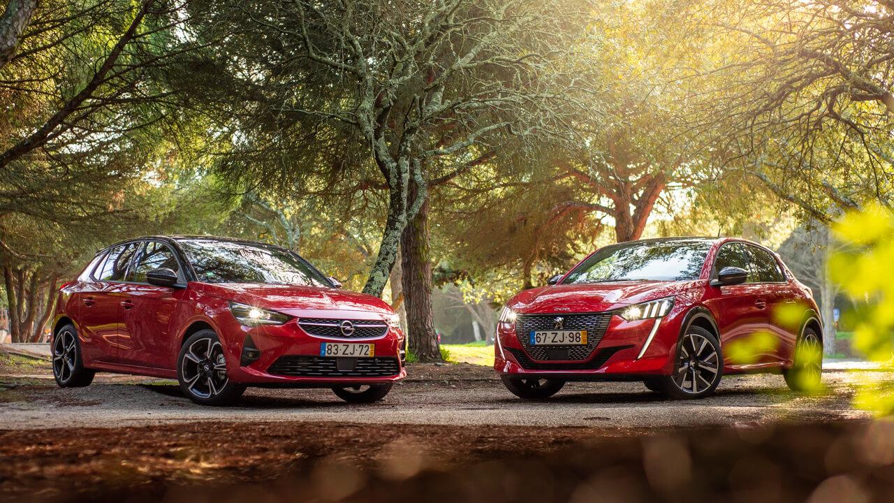 Peugeot 208 et Opel Corsa