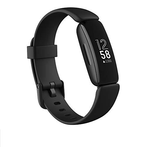 Fitbit Inspire 2 - Moniteur d'activité et de santé avec fréquence cardiaque continue, 1 an de service Fitbit Premium inclus et 10 jours de batterie, noir