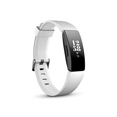 Fitbit Inspire HR, bracelet fitness et santé avec fréquence cardiaque, blanc / noir