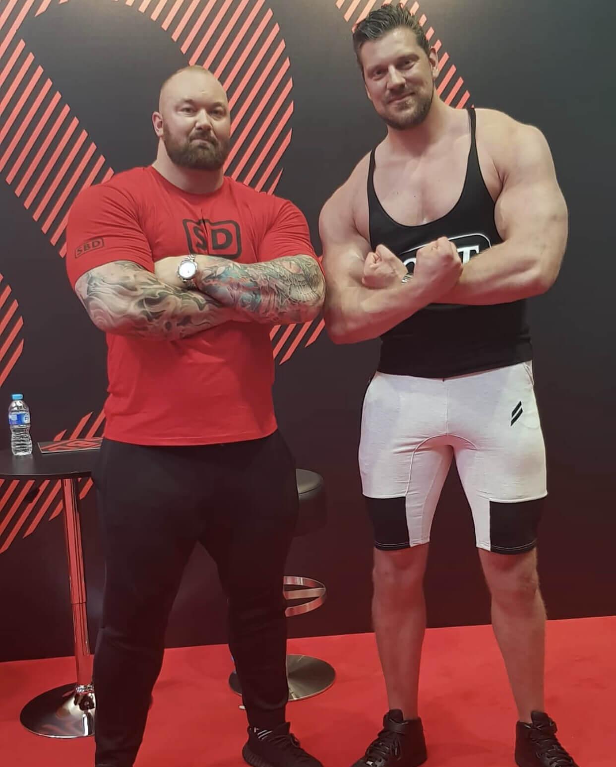 Olivier Richter et Hafþór Júlíus Björnsson