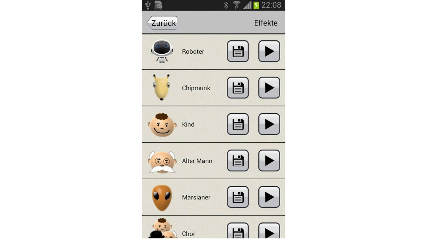 Application de changeur de voix