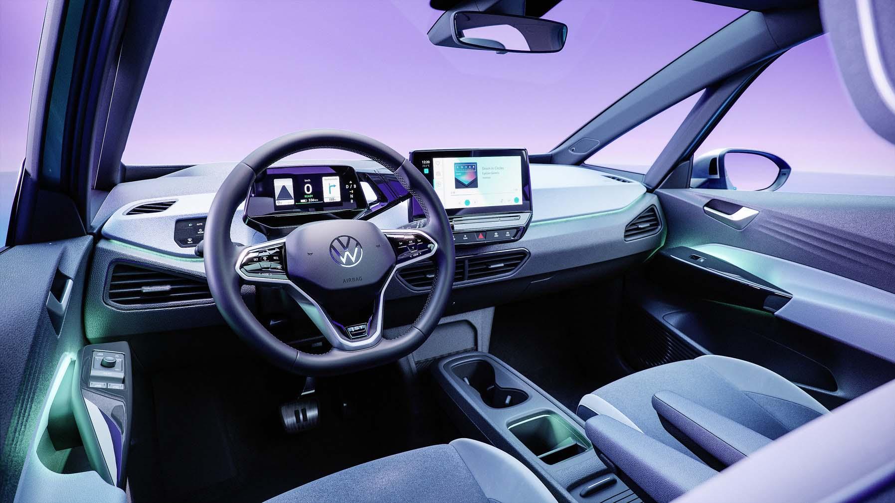 L'intérieur souligne l'engagement de VW envers la numérisation