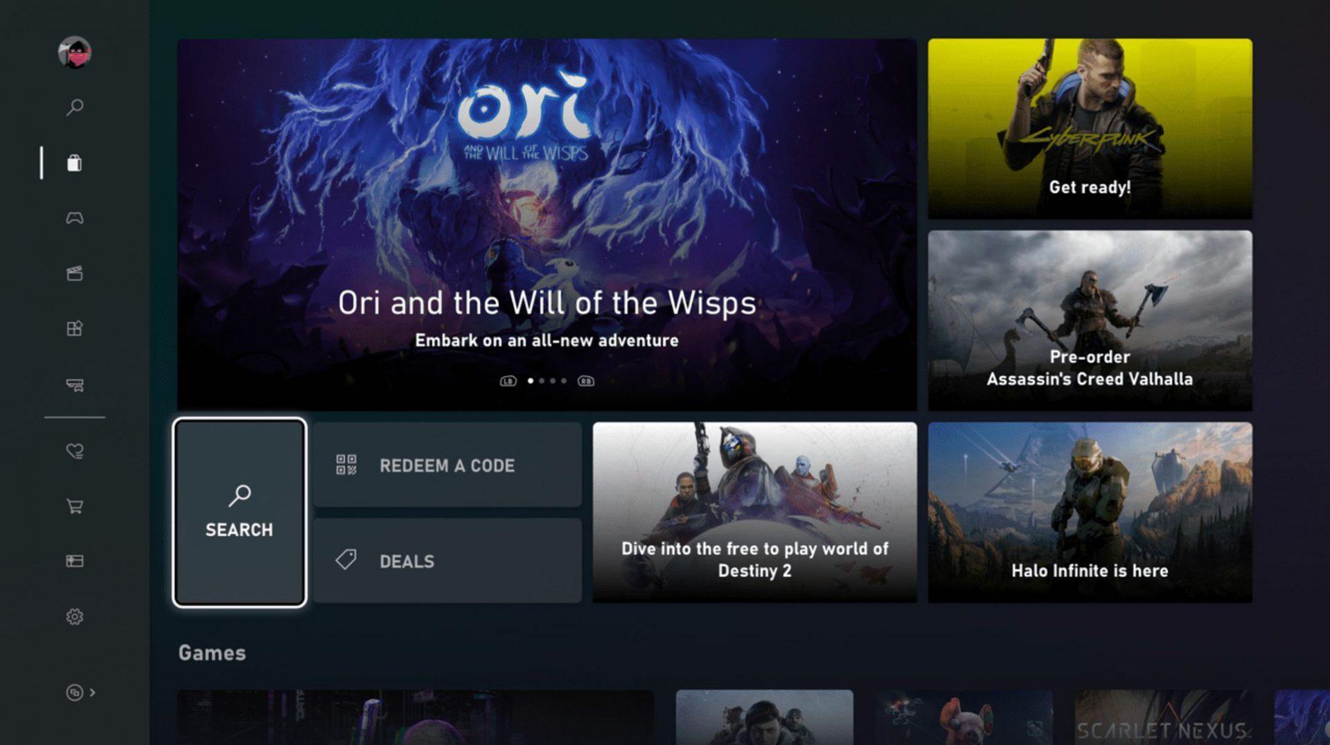 Le Nouveau Microsoft Store De Xbox One Arrive Sur L'anneau