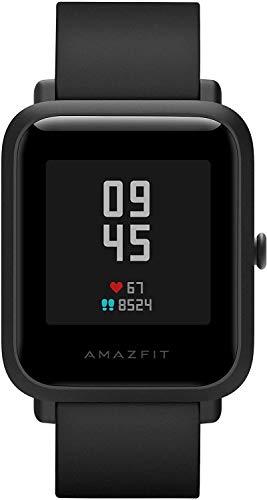 Montre intelligente Amazfit Bip S 5ATM GPS GLONASS Montre intelligente Bluetooth Bip 2 pour Android et iOS Version mondiale (noir), 4 + 64 Go