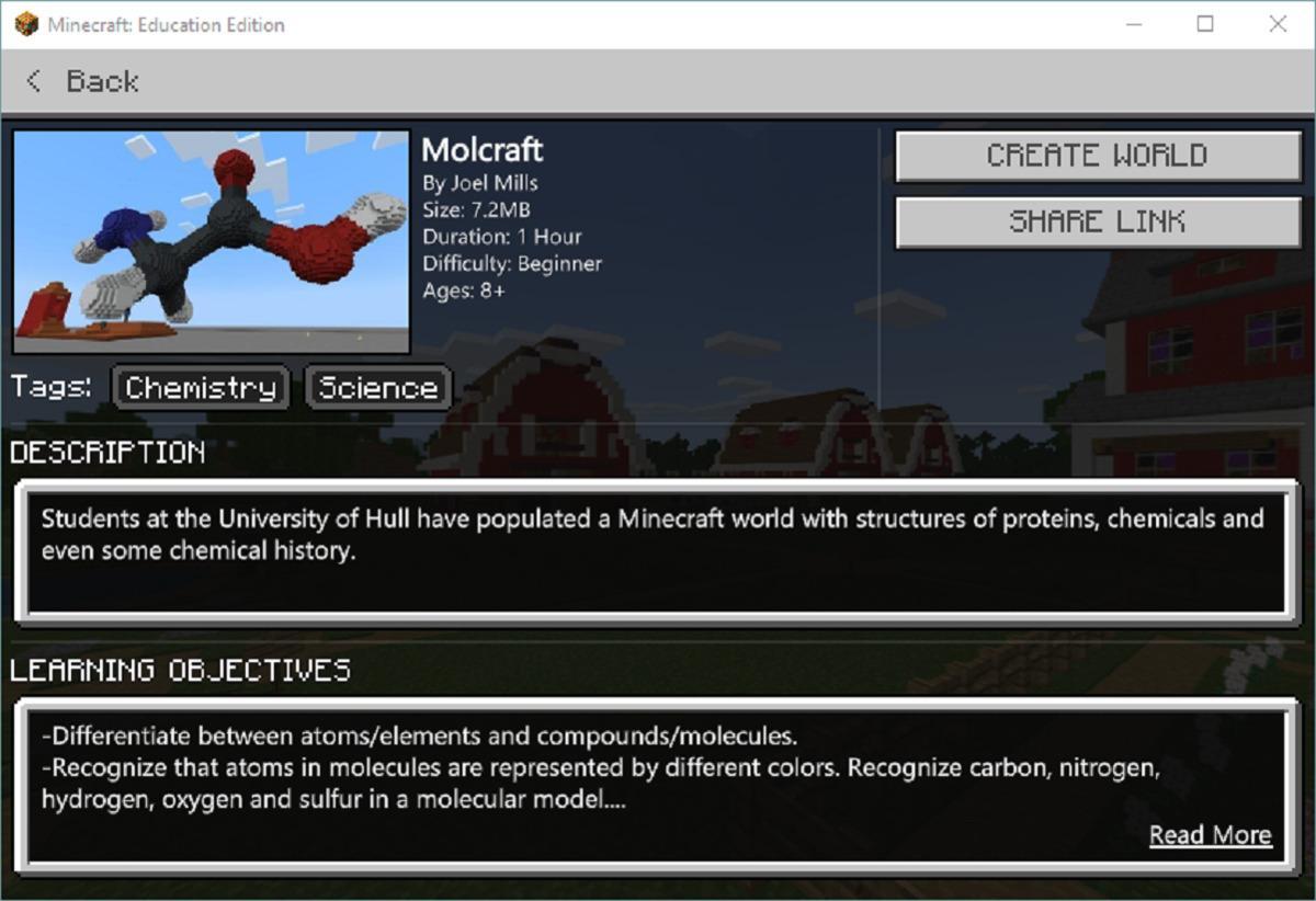 leçon édition minecraft education