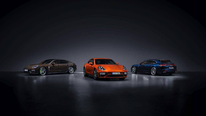 La Porsche Panamera désormais remaniée, dans les versions 4S E-Hybrid Executive, Turbo S et 4S E-Hybrid Sport Turismo