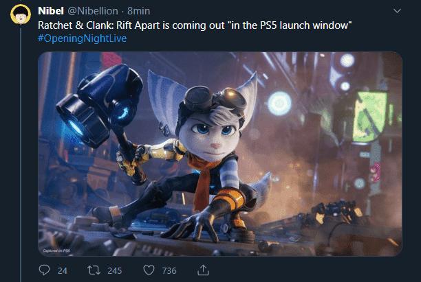 Ratchet & Clank: Rift Apart arrive `` dans la fenêtre de lancement de la PS5''