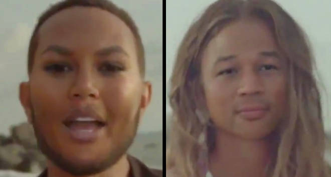 Chrissy Teigen et John Legends refaçonnent le changement de visage de l'application