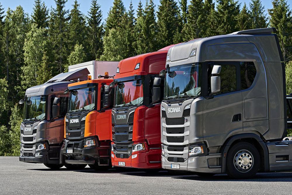 Gamme de camions Scania à Södertälje, Suède