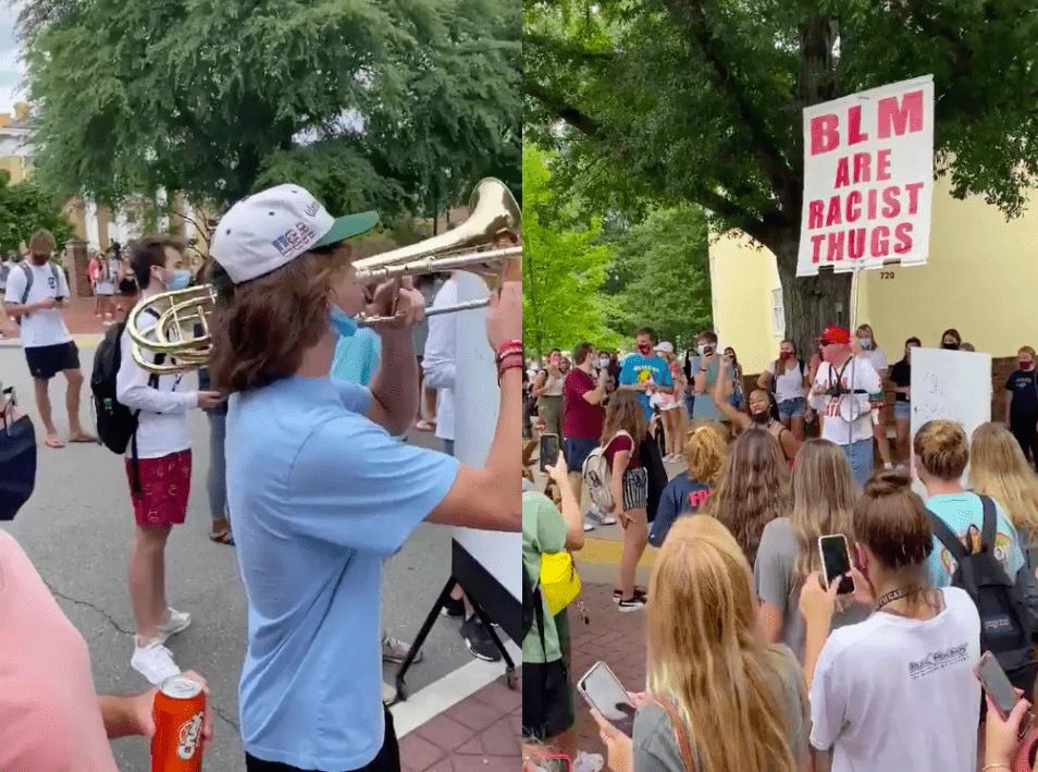 Un étudiant Noie Un Manifestant Homophobe Et Raciste Avec Son