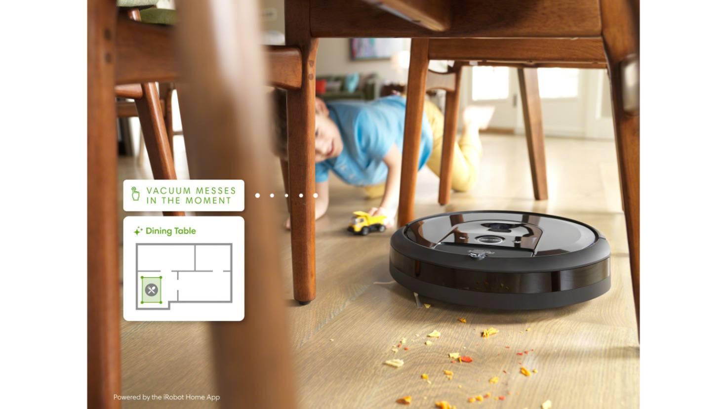 Zone de nettoyage du robot aspirateur iRobot