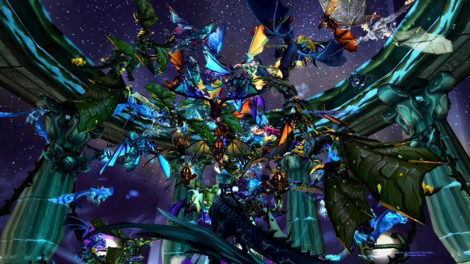 Un événement Tournament of Ages en cours - avec beaucoup de dragons.