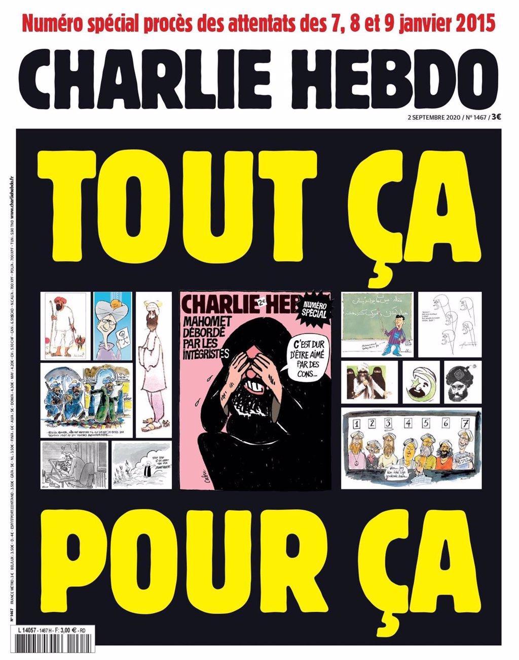 'charlie Hebdo' Publie à Nouveau Des Caricatures De Muhammad Au