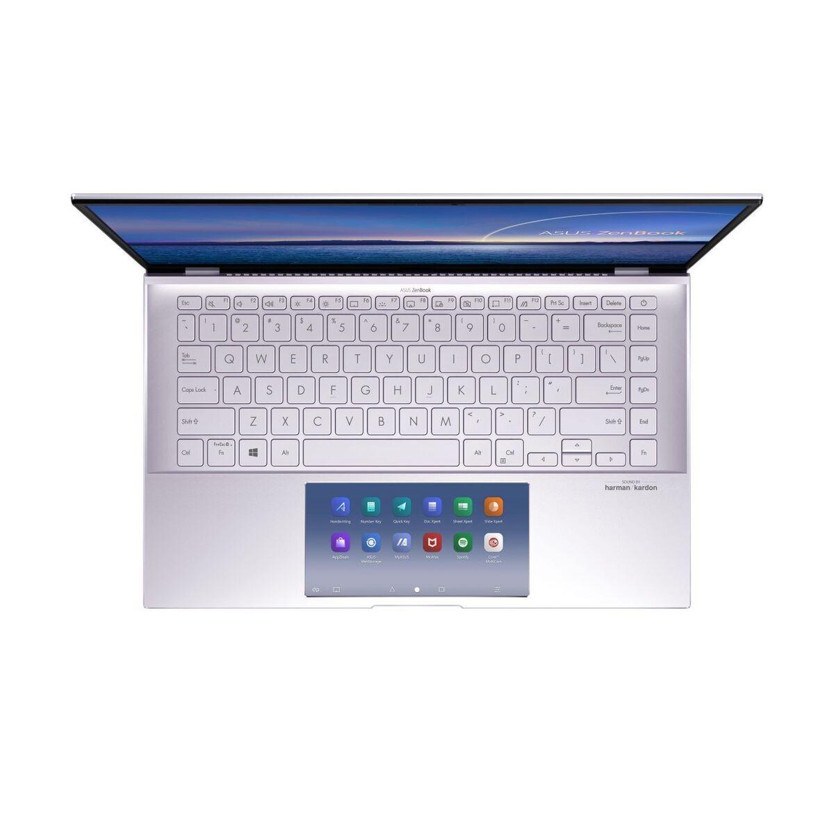 zenbook 14 ux435ea eg lilac mist asus screenpad