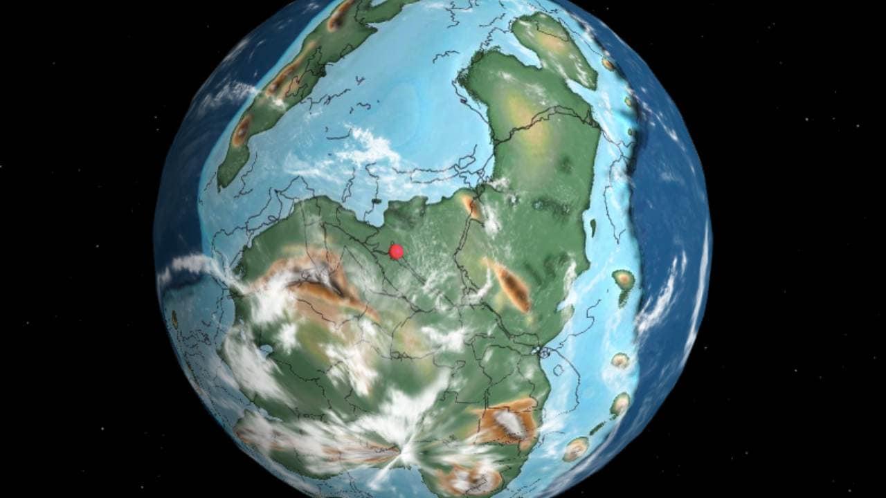 La Carte De La Terre Ancienne Montre Où Se Trouvait