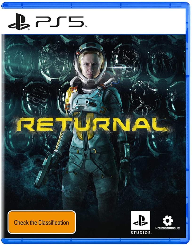 L'art de la boîte officielle du prochain jeu PlayStation 5 Returnal