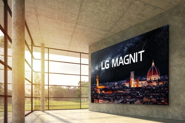 LG fait le saut vers la technologie microLED avec MAGNIT, son premier écran modulaire avec jusqu'à 163 pouces et une résolution 4K