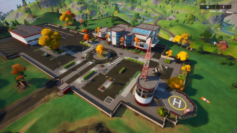 Gros plan du POI de Fortnite Stark Industries dans le jeu