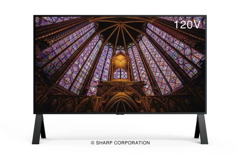 Le moniteur exagéré: le Sharp 8M-B120C offre 120 pouces de diagonale, résolution 8K, taux de rafraîchissement de 120 Hz et HDMI 2.1