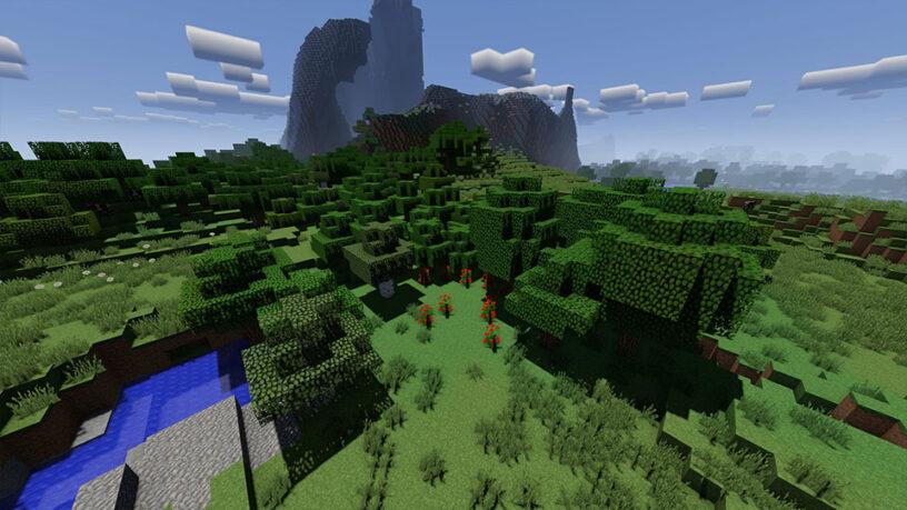 Exemple de capture d'écran du shader VanillaPlus dans Minecraft