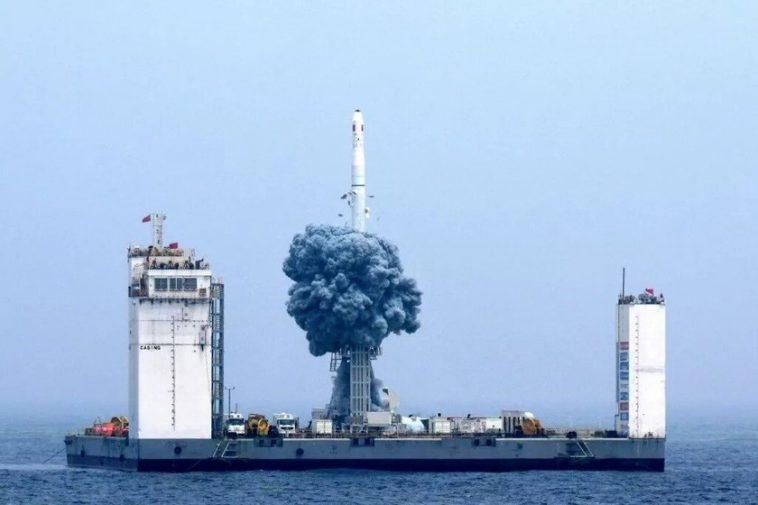La Chine construit une rampe de lancement de fusée flottante: elle sera située dans la mer