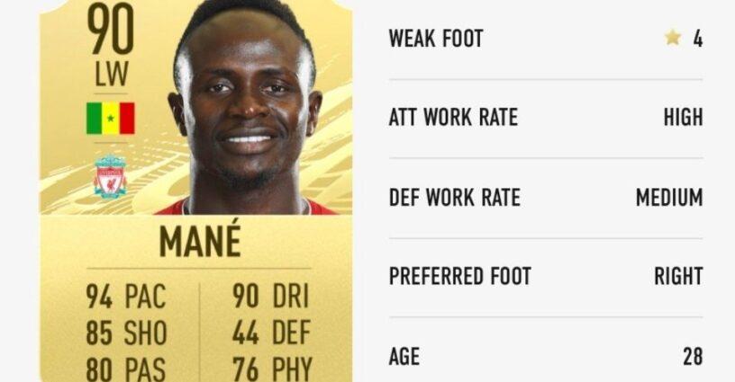 Carte de notation de Mane dans FIFA 21