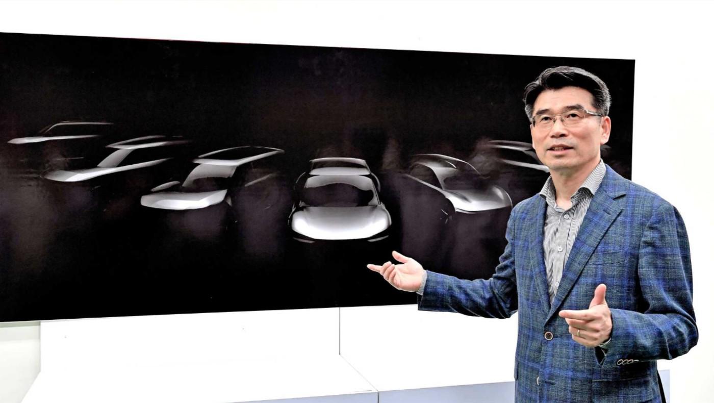 Le président de Kia Motors, lors de la divulgation de la nouvelle stratégie électrique
