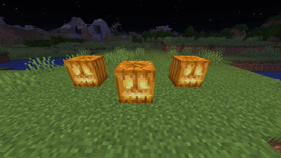Jack o 'lanterns dans Minecraft