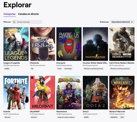 Classement des jeux les plus regardés sur Twitch.