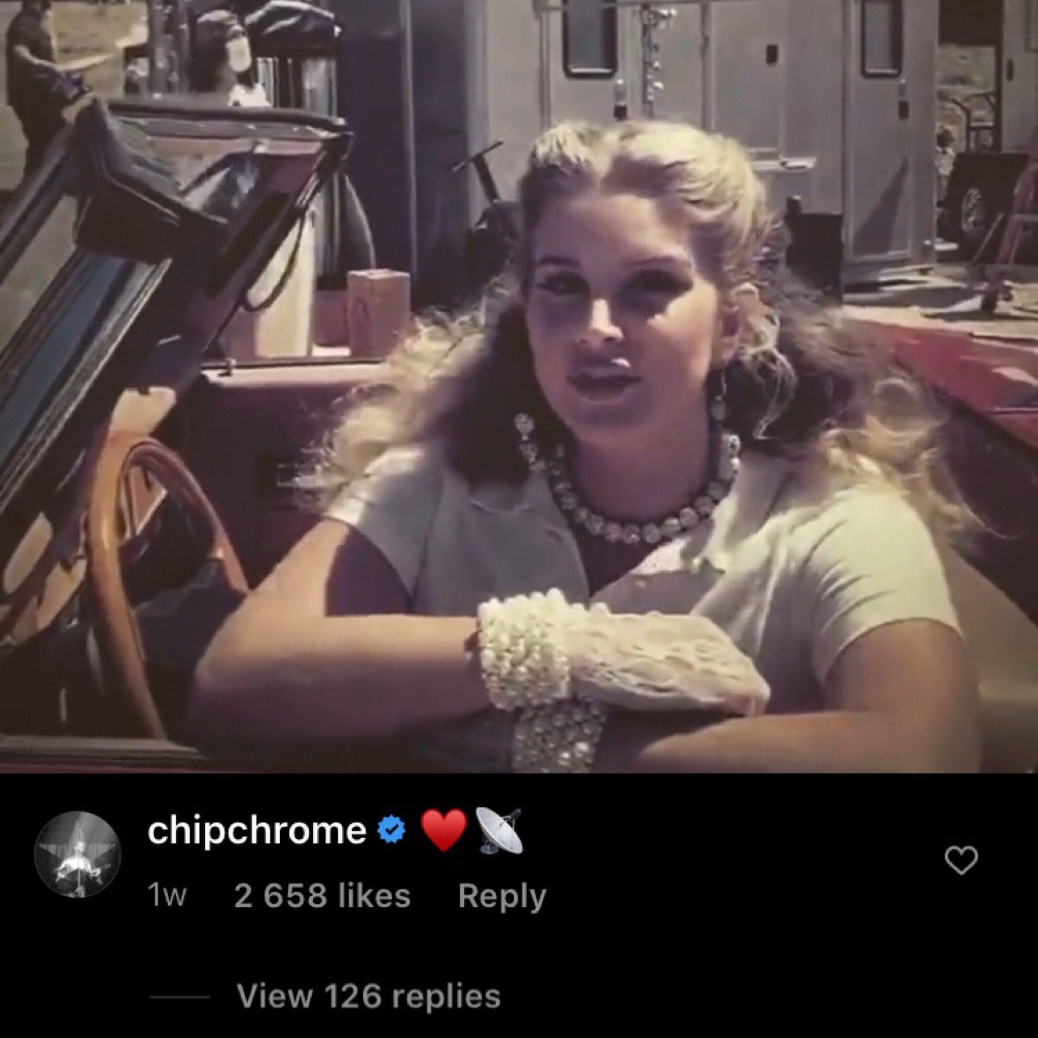 La publication Instagram de Lana Del Rey