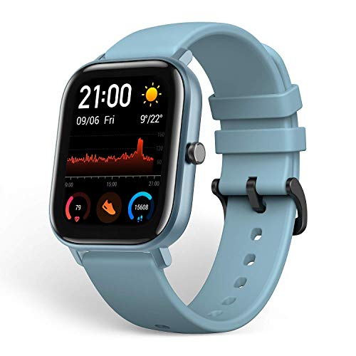 "Montre intelligente Xiaomi Amazfit GTS Bleu AMOLED 4,19 cm (1,65 "") Mobile GPS (satellite) Amazfit GTS, 4,19 cm (1,65""), AMOLED, Écran tactile, GPS (satellite), Mobile, 38,7 g"