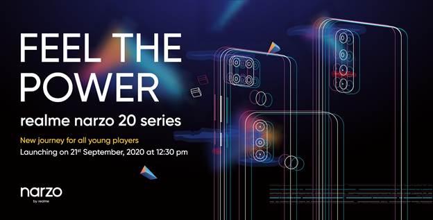 Invitation de lancement de la série Realme Narzo 20.