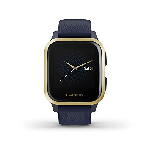 Garmin Venu Sq Music, Smartwatch avec GPS - Bleu et Or