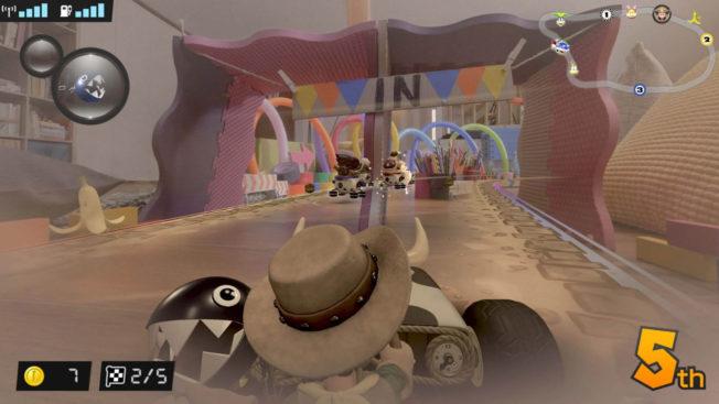 Mario Kart Live Home Circuit Luigi en cowboy